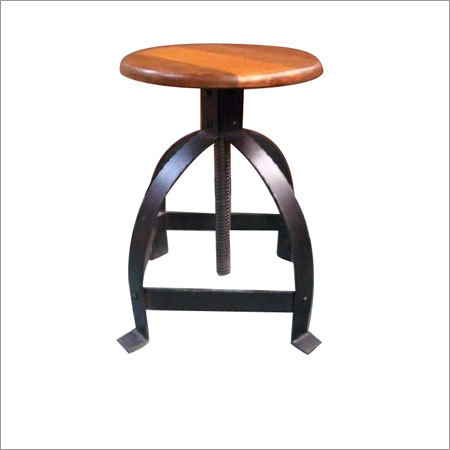 Iron Wooden Stool