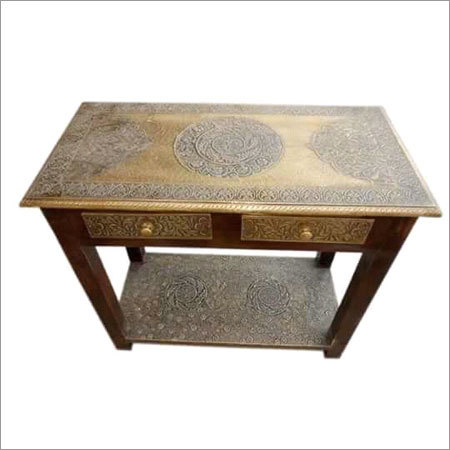 Brass Fitted Coffee Table