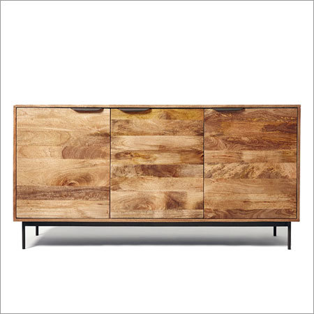 Wooden Iron Sideboard