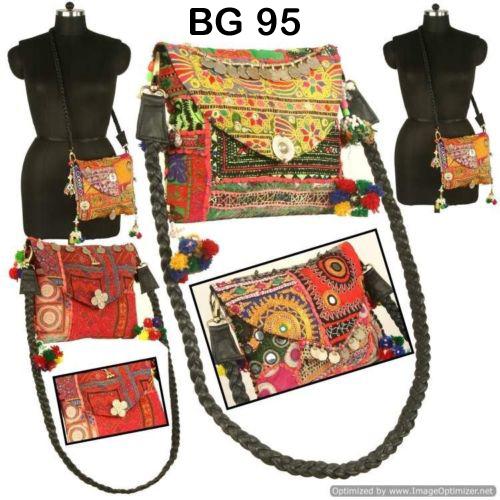 Vintage Banjara Fabric Clutch Bag