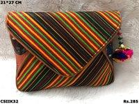 Colourful Ikat and Kalamkari Sling Bag