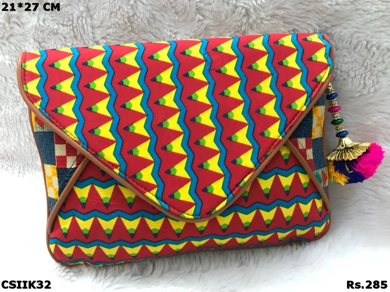 Colourful Ikat and Kalamkari Sling Bag
