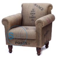 Jute Rolled Arm & Back Chair