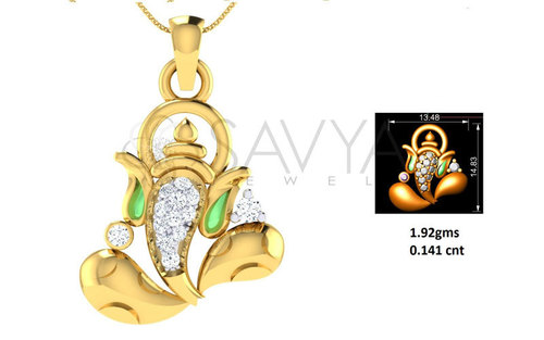 Diamond God Pendant