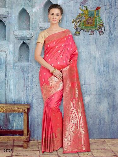 Fastive Wear Banarasi Silk Saree