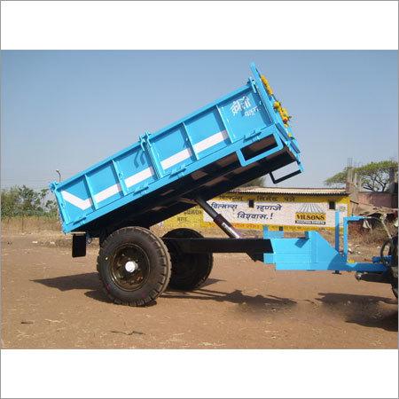 2 Wheeler Steel Tractor Trailer