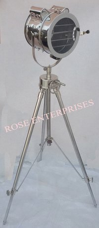 Nickel Plated Tripod Spot Search Light