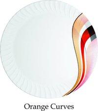 Orange Curves Plates