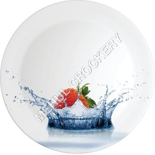 Aqua strawberry Plates