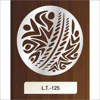 Round Shape MS Laser Cutting Design