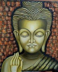 Buddha Texture Painting