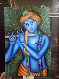 Krishna Texture Painting