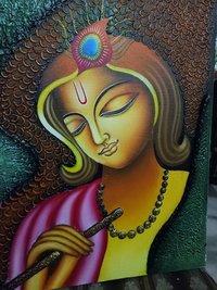 Lord Krishna Texture Painting