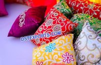 Embrodried Cushons For Mehndi Decoration