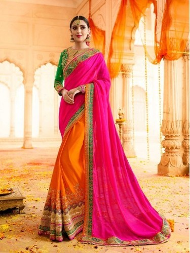 Pink Silk Zari Wedding & Bridal Wholesale Saree