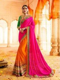 Pink Silk Zari Wedding & Bridal Wholesale Saree