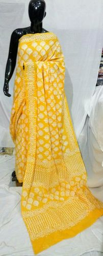 Cotton Block Printed Saree