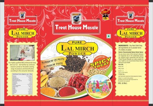 LAL Mirch Packaging Pouches
