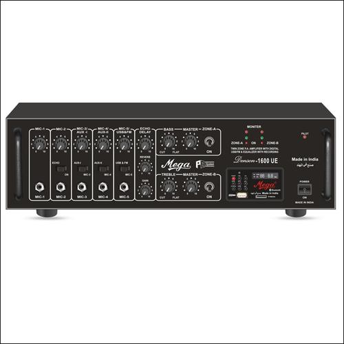 P. A. Twin Zone Power Amplifiers DENSON-1600UE
