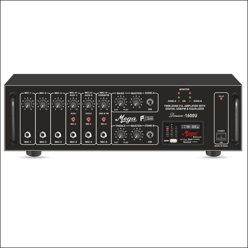 P. A. Twin Zone Power Amplifiers DENSON-1600U