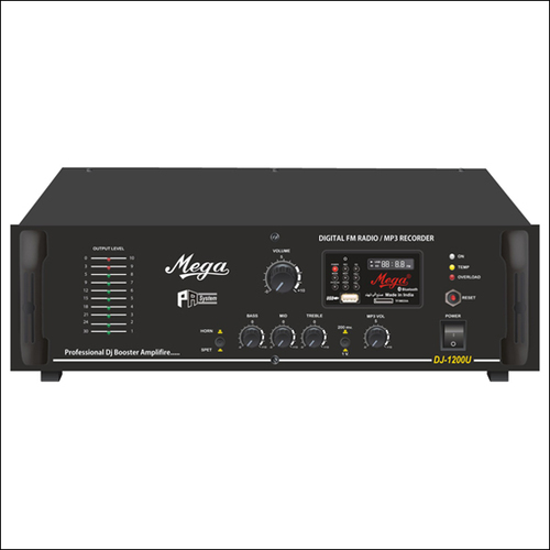 Zone Selector & P.A. Booster DJ Amplifiers DJ-1200