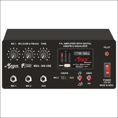 P.A. Mobile Amplifier Cum Siren MSA-500U