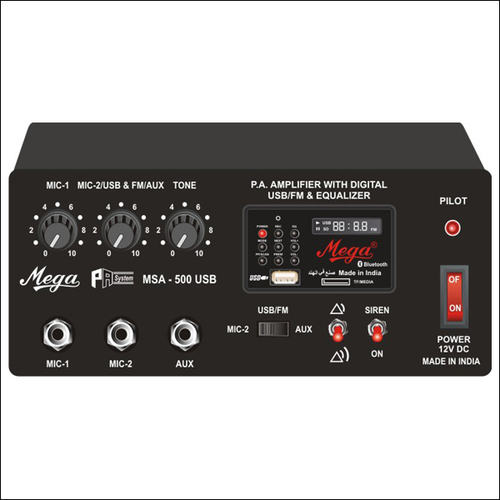 P.A. Mixer / P.A. Mobile Amplifier cum Siren