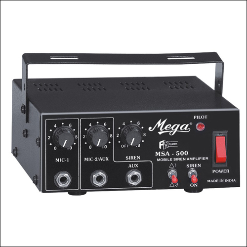 P.A. Mobile Amplifier Cum Siren MSA-500