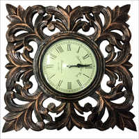 Wooden Gloden Wall Clock