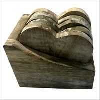 Wooden Tea Coaster Heart Shape