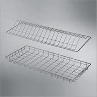 Wire Glass and Plate Tray