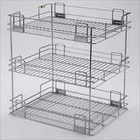 Organiser 3 Shelves Standing Kitchen Organiser (Folding) 3S