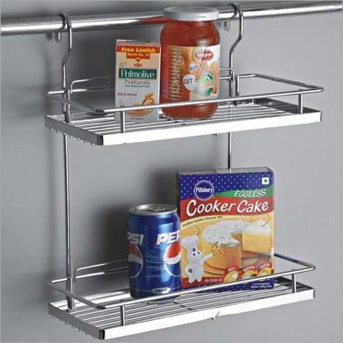 Folding Corner Double Shelf