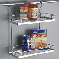 Folding Corner Double Shelf
