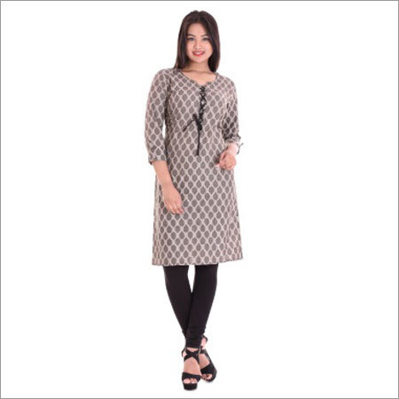 Ladies Printed Cotton Short Kurti