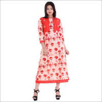 Ladies Jacket Long Kurta With Embroidery