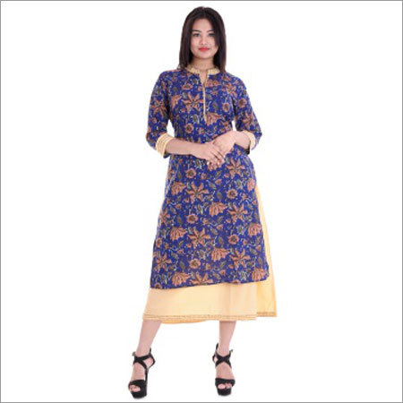 Ladies Collar Neck -  Katha Work Kurtis