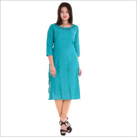 Ladies 11 Button Round Neck Kurtis