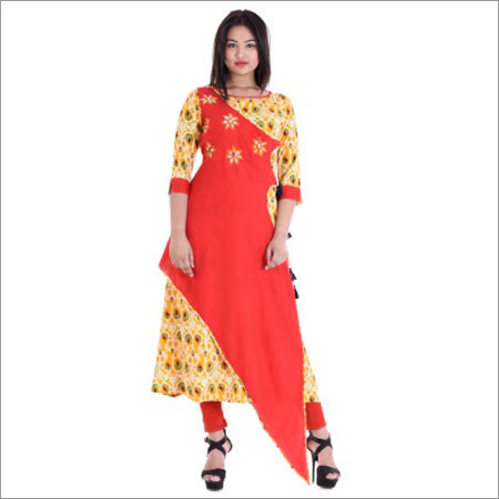 Ladies Double Layer Designer Kurtis