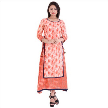 Ladies Double Layer Trendy Kurtis