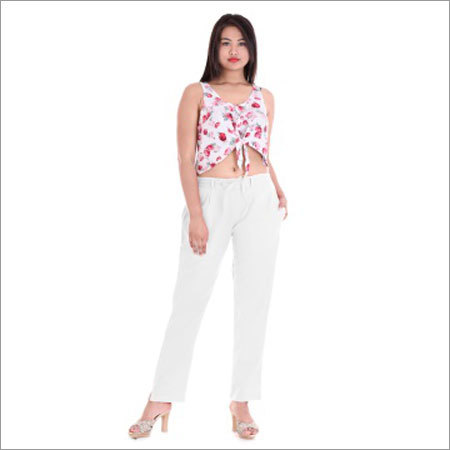 Ladies White Pant