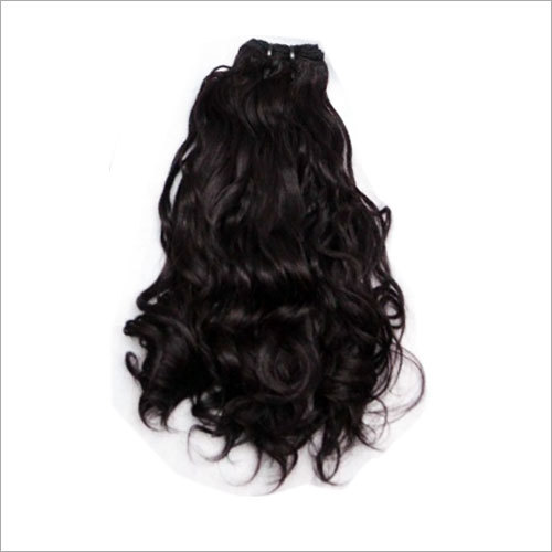 Natural Wavy Hair Machine Weft Extension