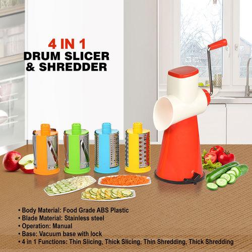 4 In 1 Drum Slicer shredder