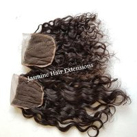 4x4 deep curly free part lace closure Curly Human Hair