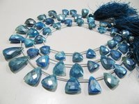 AAA Quality Natural Blue Topaz AB Coated Beads