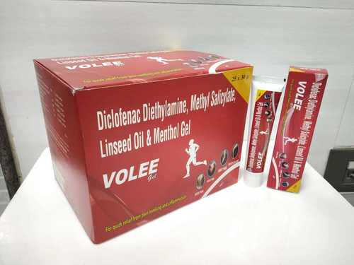 Linseed Oil Bp 3.0%w/w + Diclofenac Diethylamine  Bp 1.16% W/w + Methyl Salicylate Ip 10.0% W/w + Menthol Ip 5.0% W/w Gel