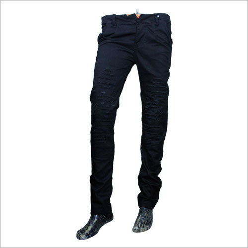 Mens Black Rugged Jeans