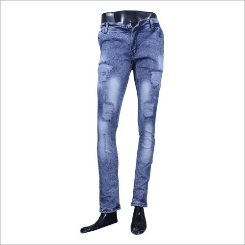 Mens Casual Rugged Jeans