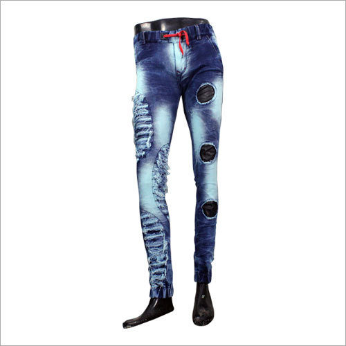 Mens Stretchable Trendy Rugged Jeans