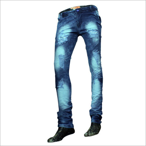 Mens Designer Rugged Jeans